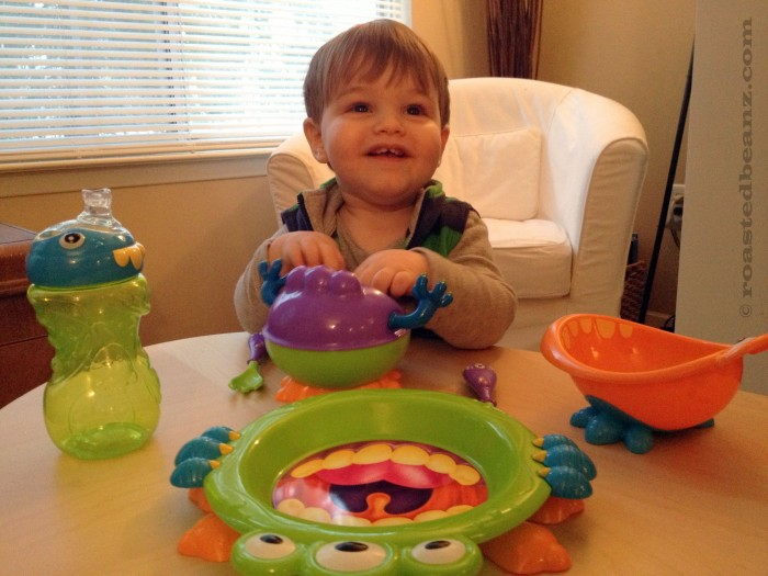 © Rasted Beanz: Nuby USA iMonster Toddler Feeding Series