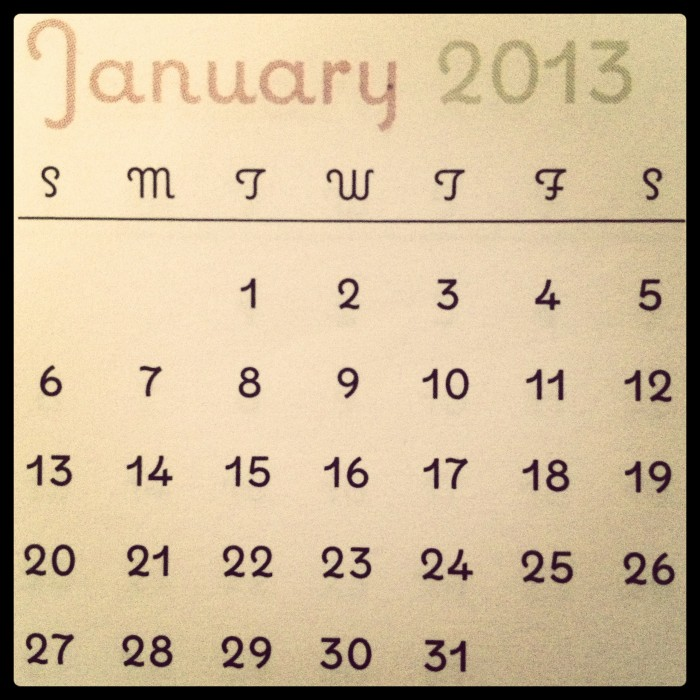 Roasted Beanz: 2013 Holidays #January