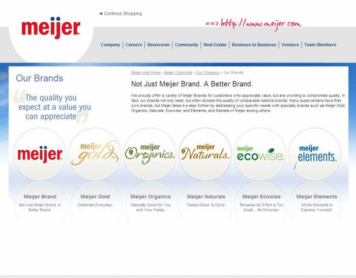 Corporate - Company - Our Brands - Meijer.com