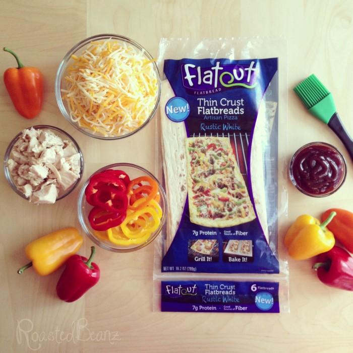 © roastedbeanz.com: Flatout Flatbread thin crust pizza