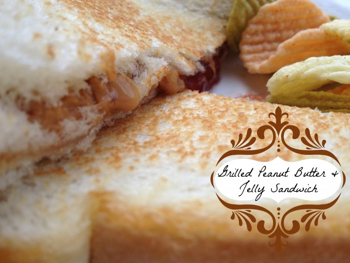 © roastedbeanz.com: How to make a grilled peanut butter and jelly sandwich