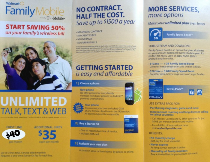 Walmart Family Mobile cellular plan