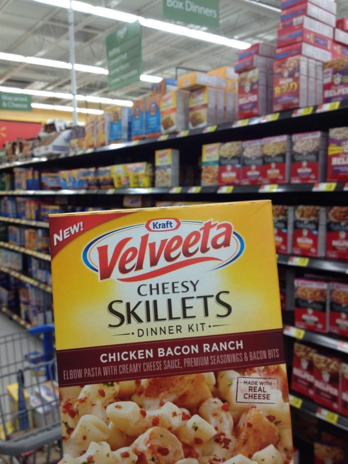 Roasted Beanz: Kraft Velveeta Cheesy Chicken Bacon Ranch Skillet #CookinComfort #CollectiveBias #shop