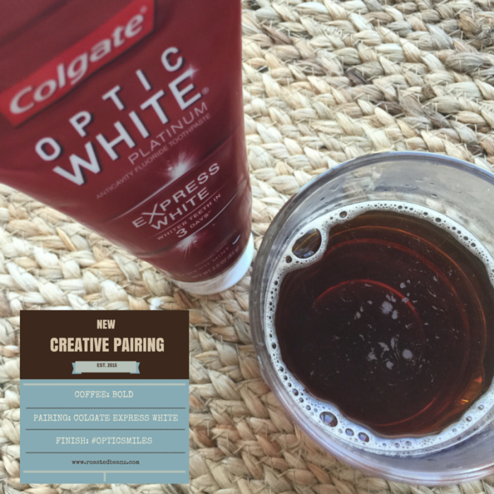 Coffee Pairing With Colgate Optic White Express White © Rachel Everheart Hull www.roastedbeanz.com #OpticWhite #ad #collectivebias #shop