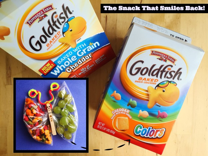 Butterfly Party Favors With Goldfish® Colors Crackers © www.roastedbeanz.com #GoldFishMix #Walmart #ad #CollectiveBias #shop